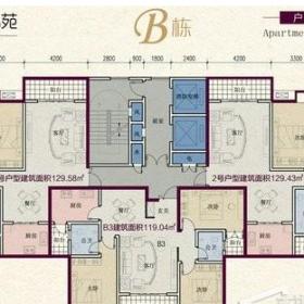 文昌锦苑B栋平面户型图
